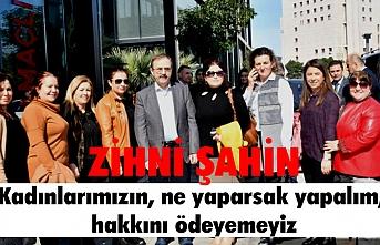 Başkan Zihni Şahin, kadın memurlarla bir arada  'HAKKINIZ ASLA ÖDENMEZ!..'