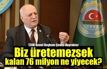 TZOB Başkanı Bayraktar: Biz üretemezsek, kalan 76 milyon ne yiyecek?
